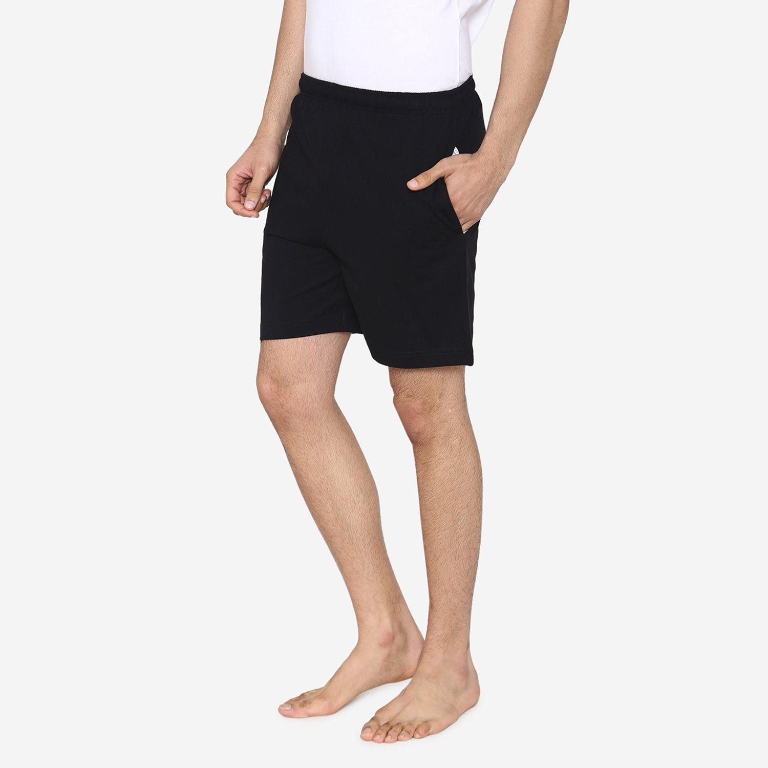 Men's Plain Comfy & Casual Shorts For Summer - Black