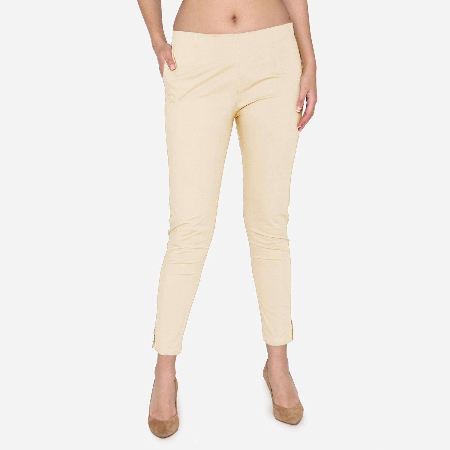 Vami Women's Cotton Formal Trousers