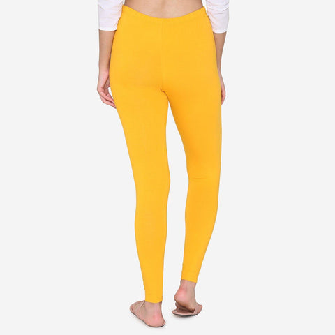 Cotton legging for Women - Yellow