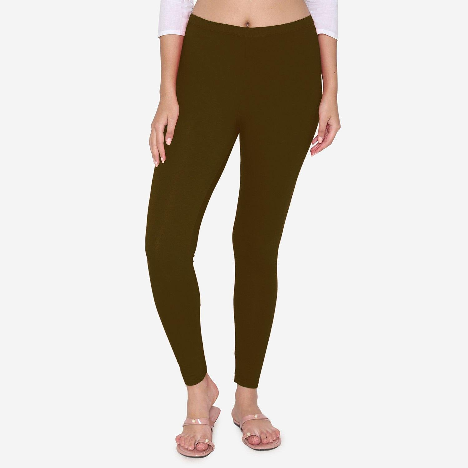 Women's Cotton Stretchable Ankle Leggings