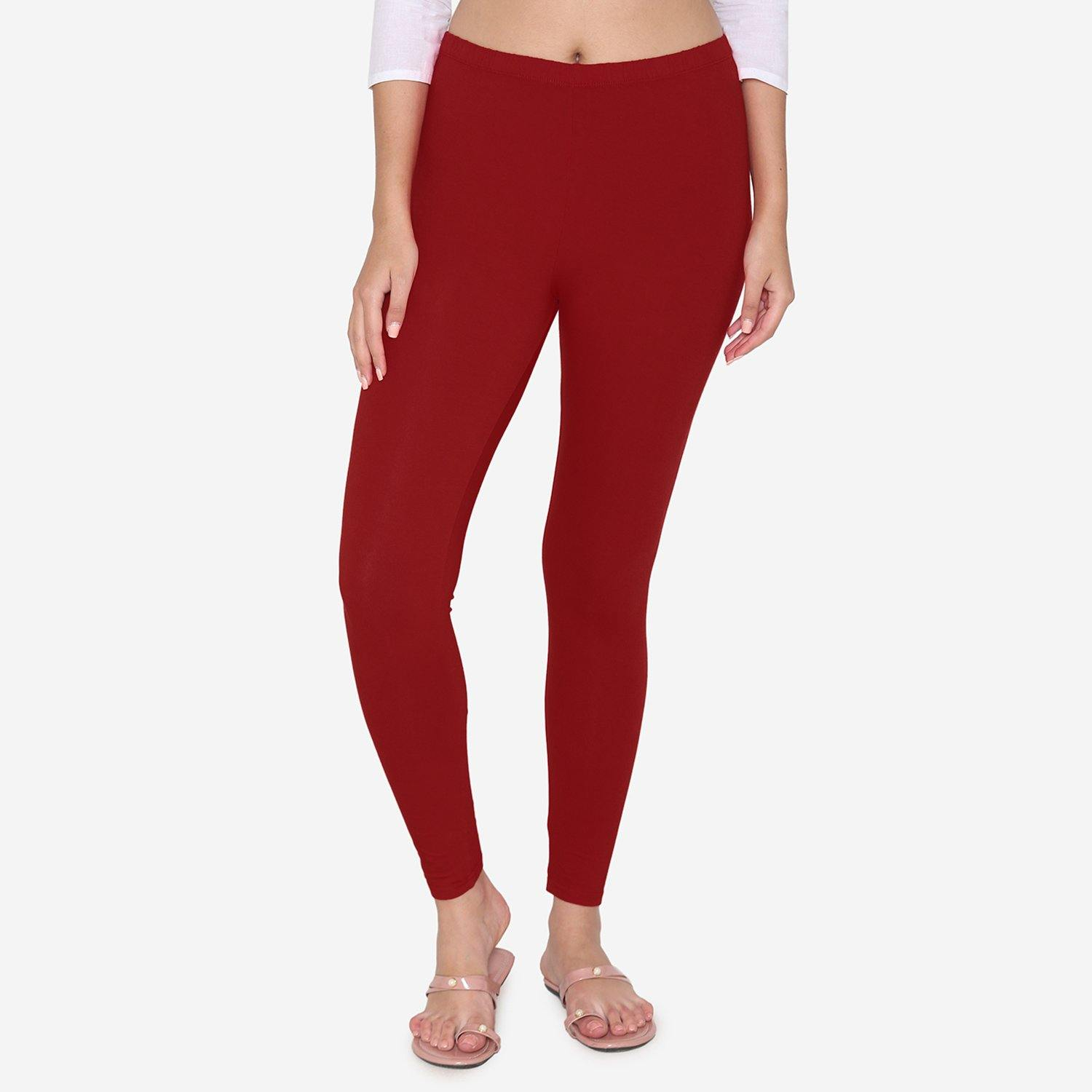 Maroon Color Ankle Legging
