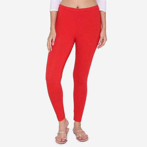 Leggings for Women -True Red