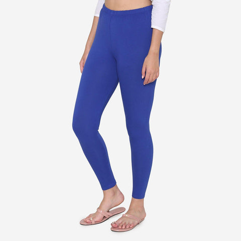 Cotton legging for Women in Blue Color