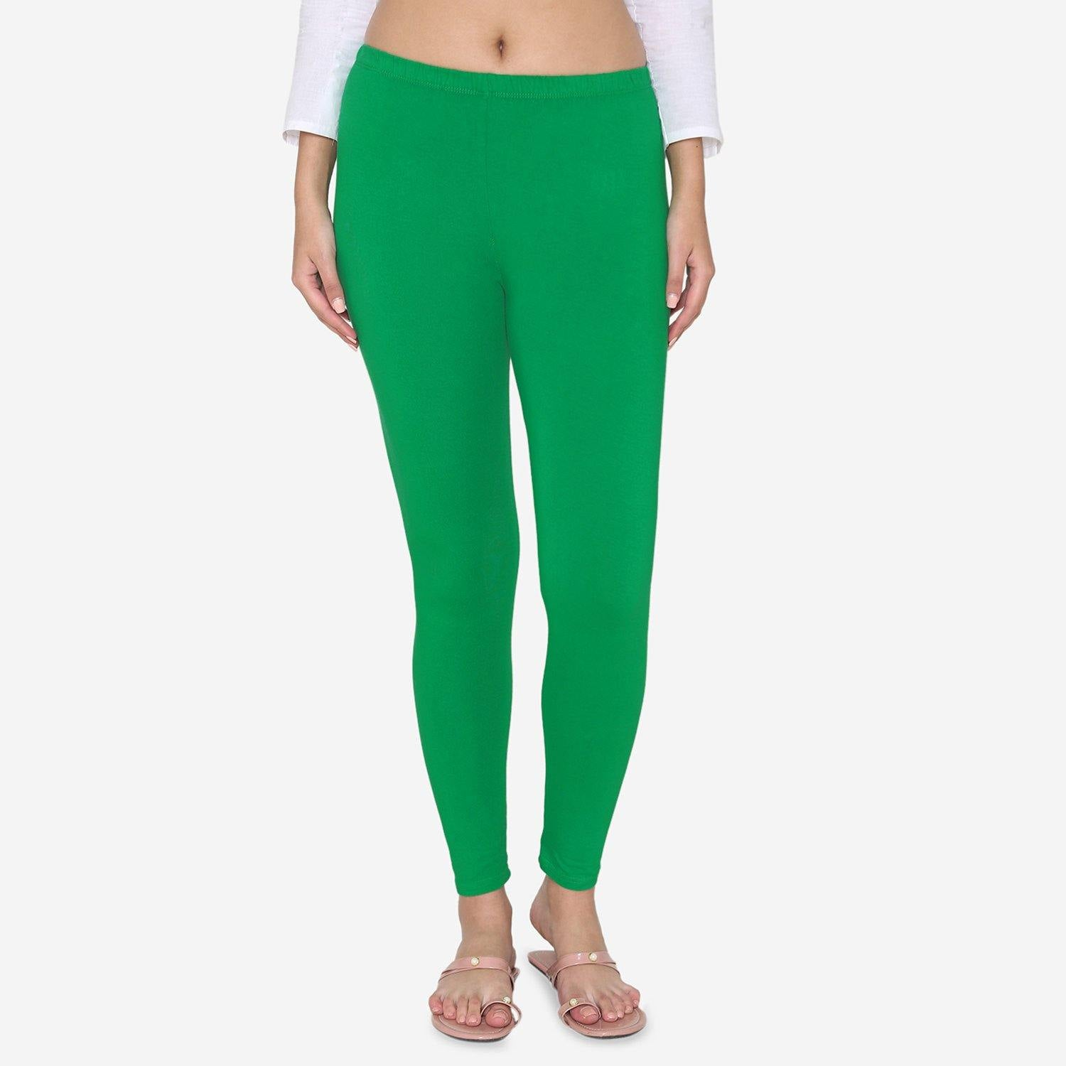 Plain Ankle Leggings For Women