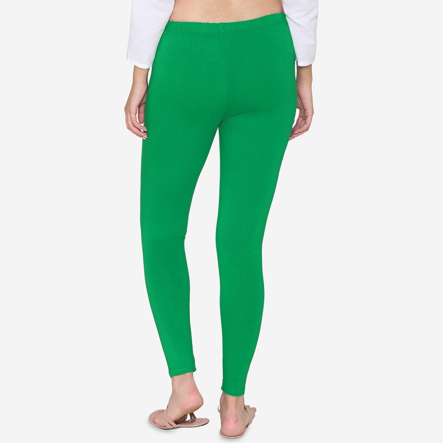 Solid Color Ankle Leggings