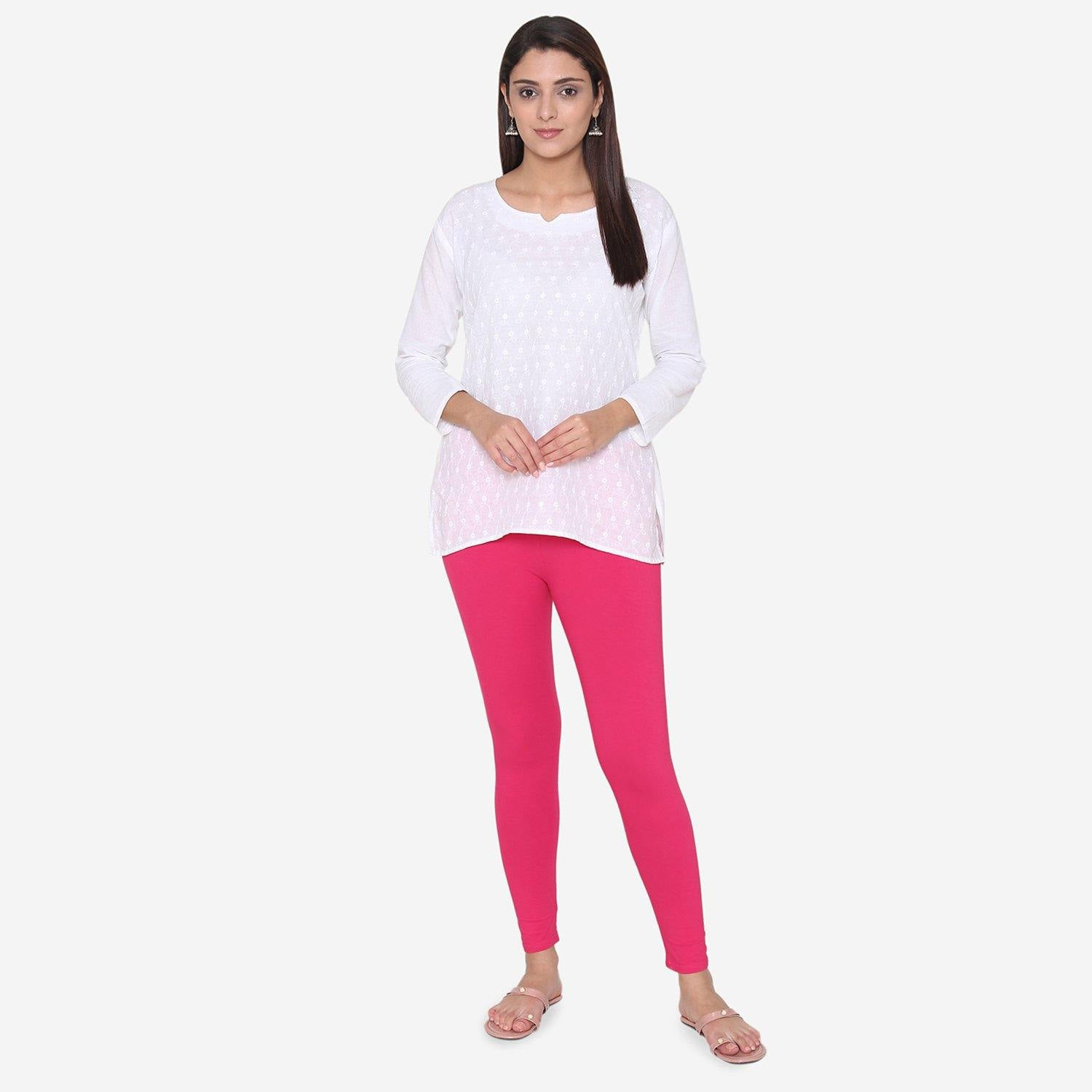 Pink Cotton Legging