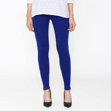 Vami Women's Woolen Ankle legging - Ink Blue