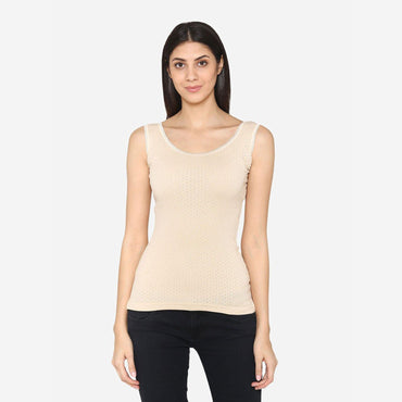 Women Sleeveless Thermal Top - Skin
