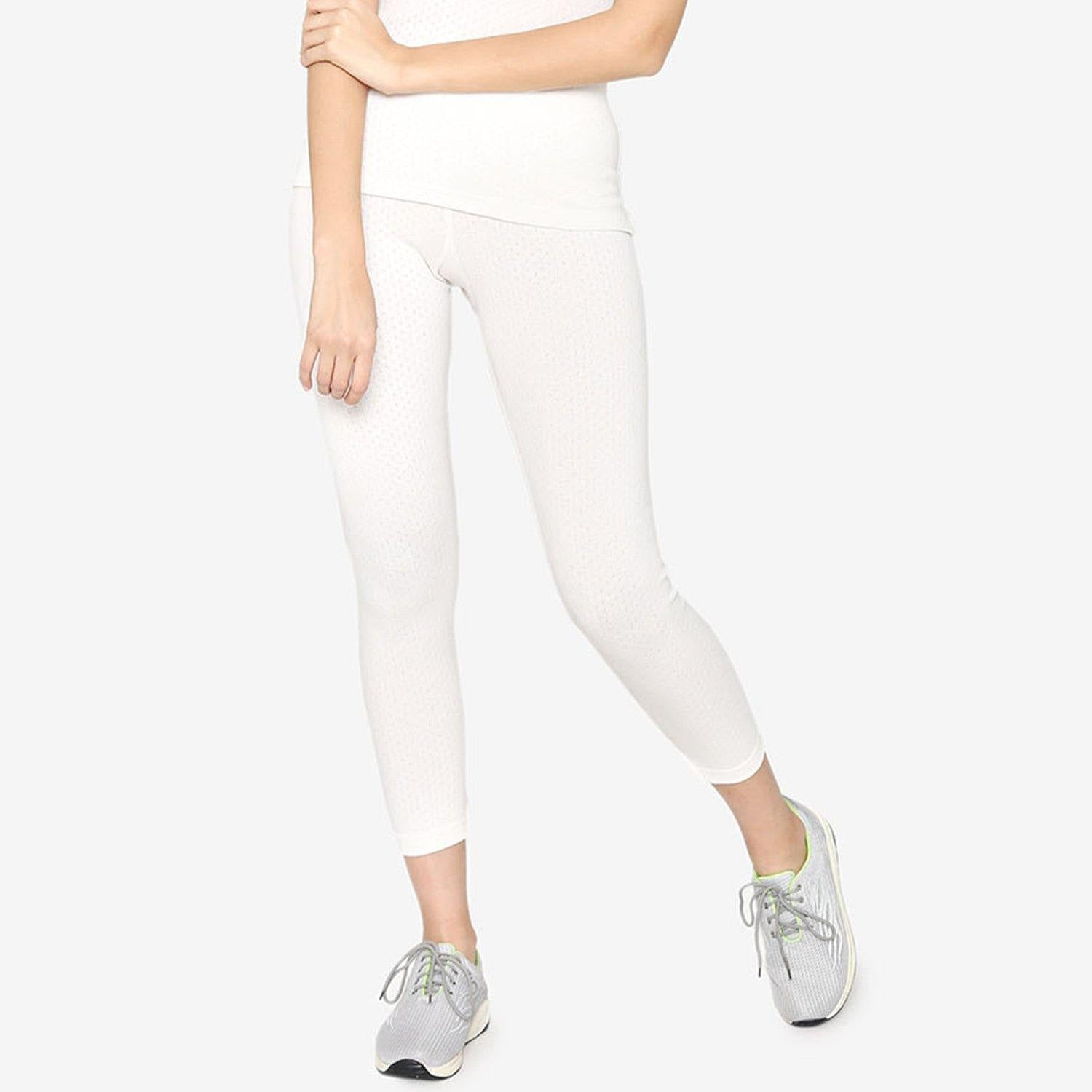 Vami Thermal Lower For Women In Off - White Color