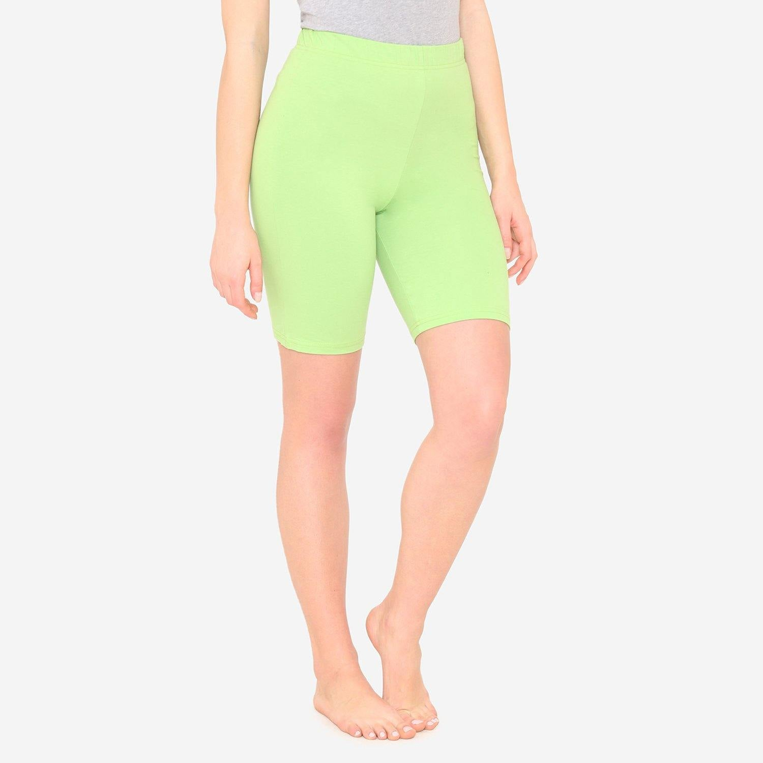 Women's Casual  Plain Shorts for Summer - Green