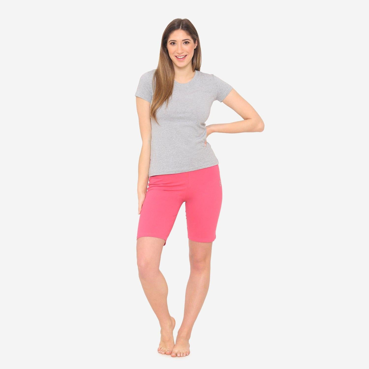 Women's Casual  Plain Shorts for Summer - Pink