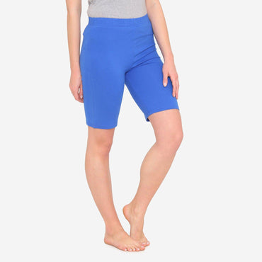 Women's Casual  Plain Shorts for Summer - Blue