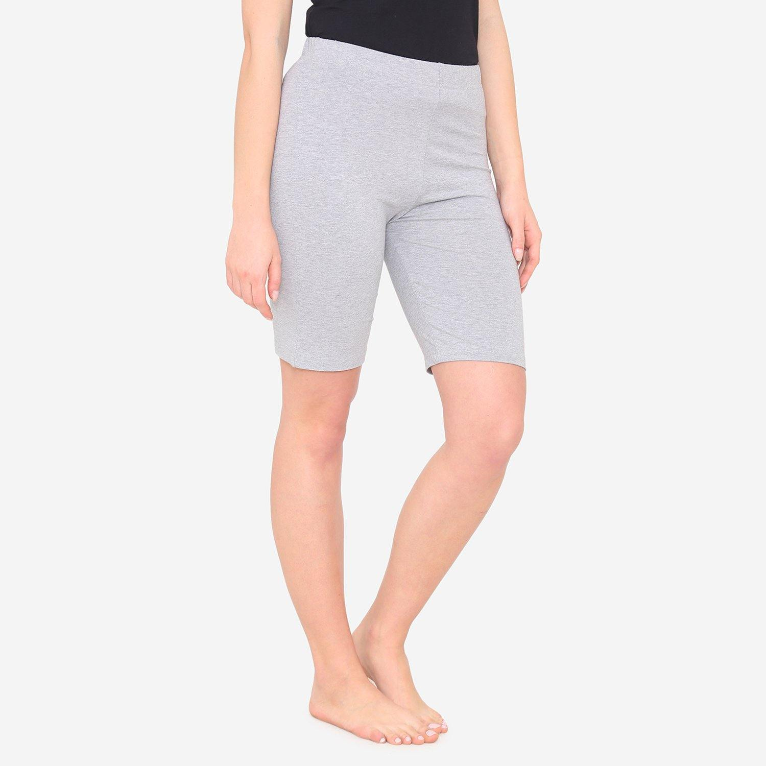 Women's Casual  Plain Shorts for Summer - Light Grey
