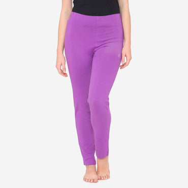 Women's Comfy Classy Plain Lower  For Summer - Purple