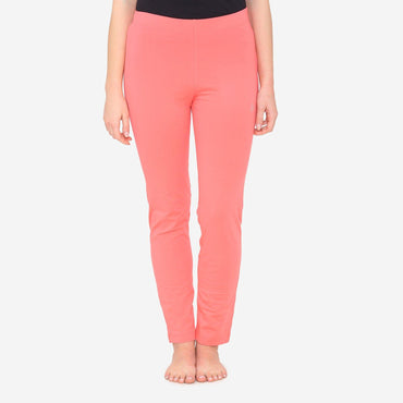 Women's Comfy Classy Plain Lower For Summer - Persimmon