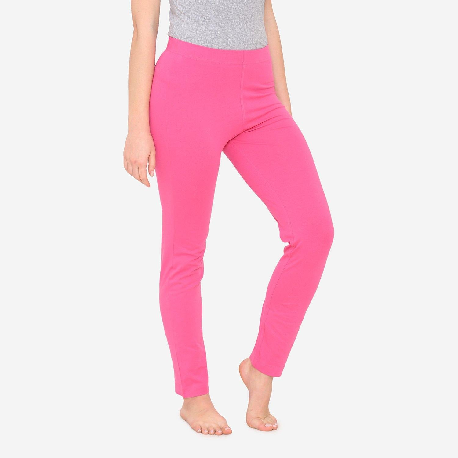 Women's Comfy Classy Plain Lower For Summer - Fuchsia