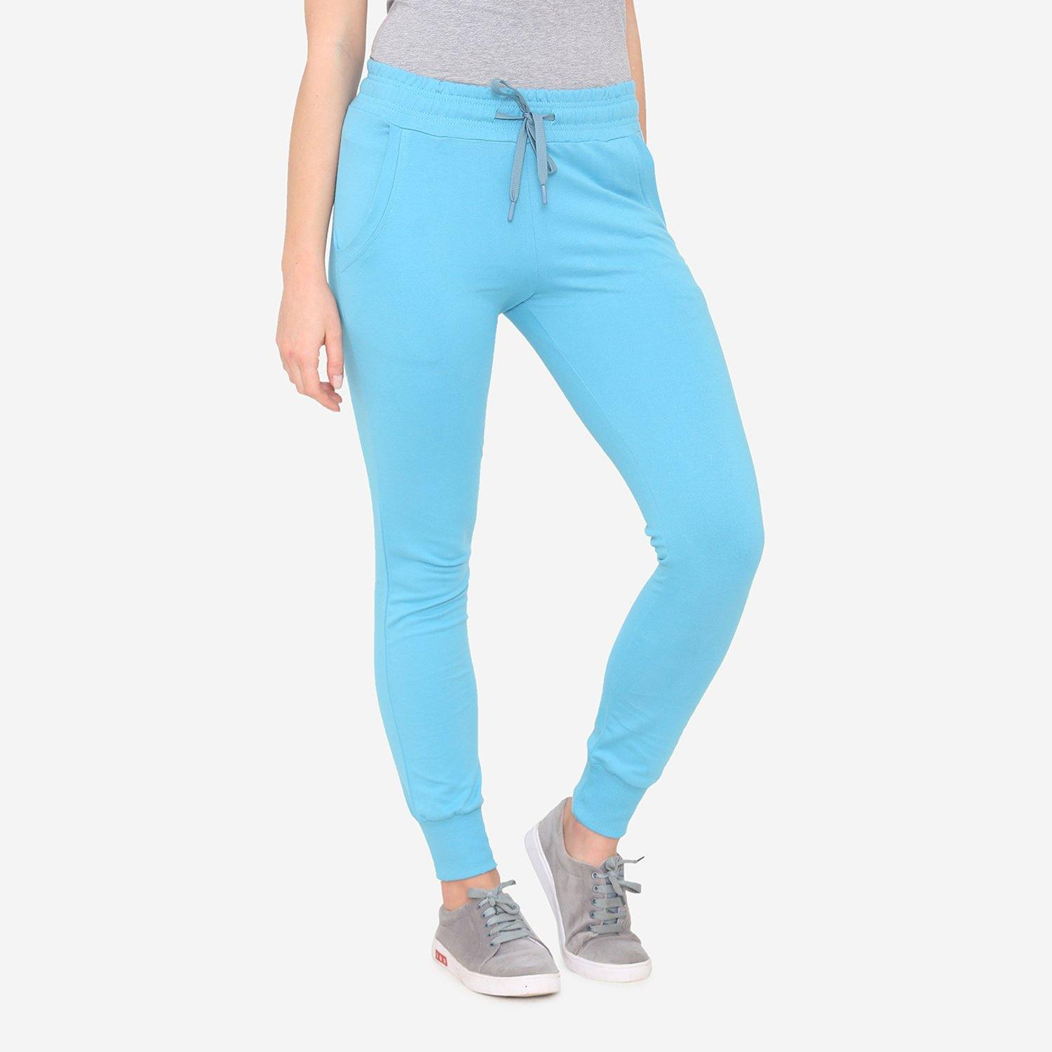 Women's Plain Casual Jogger Pants - Reaf Water
