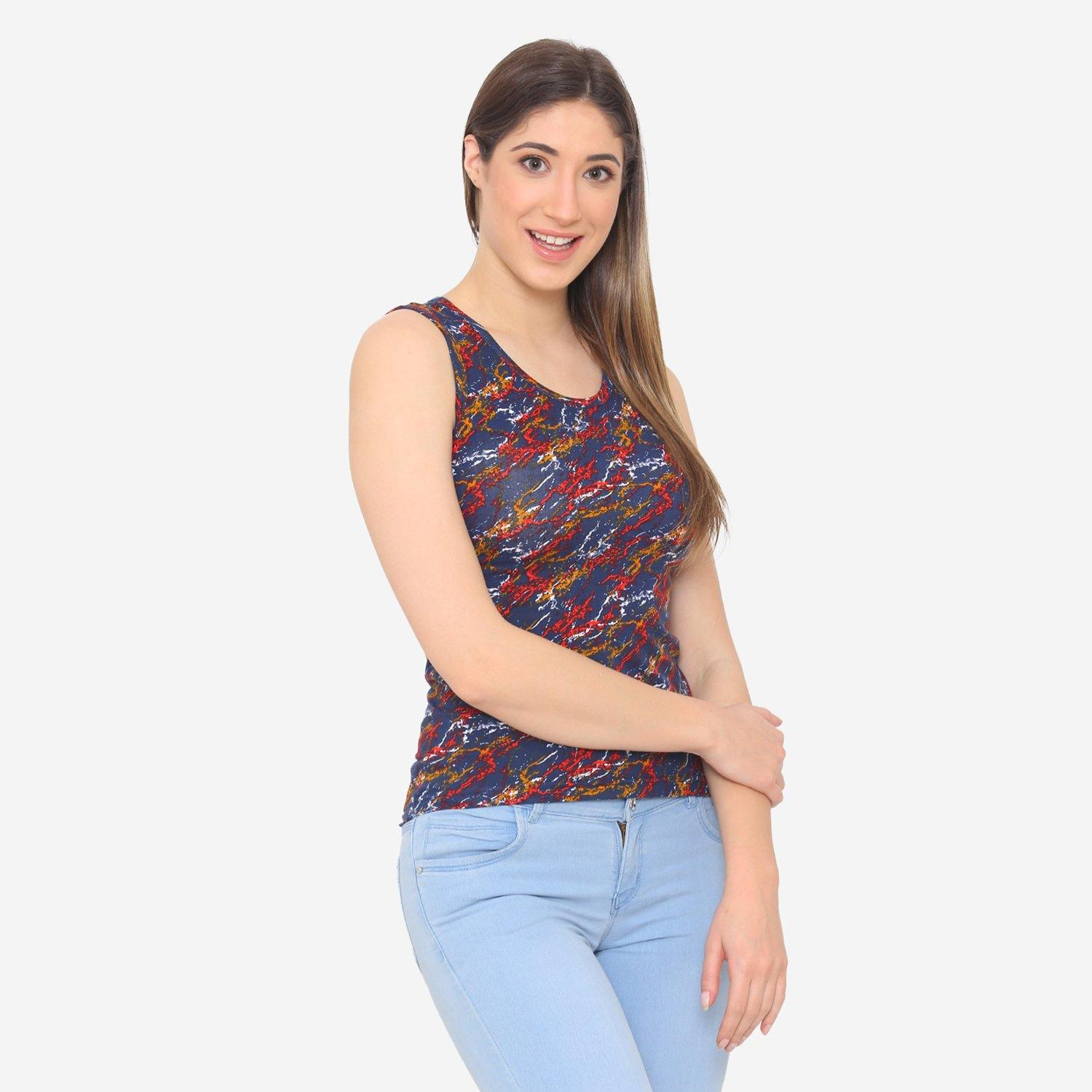 Women's Prints Casual Summer Sleeveless T-Shirt
