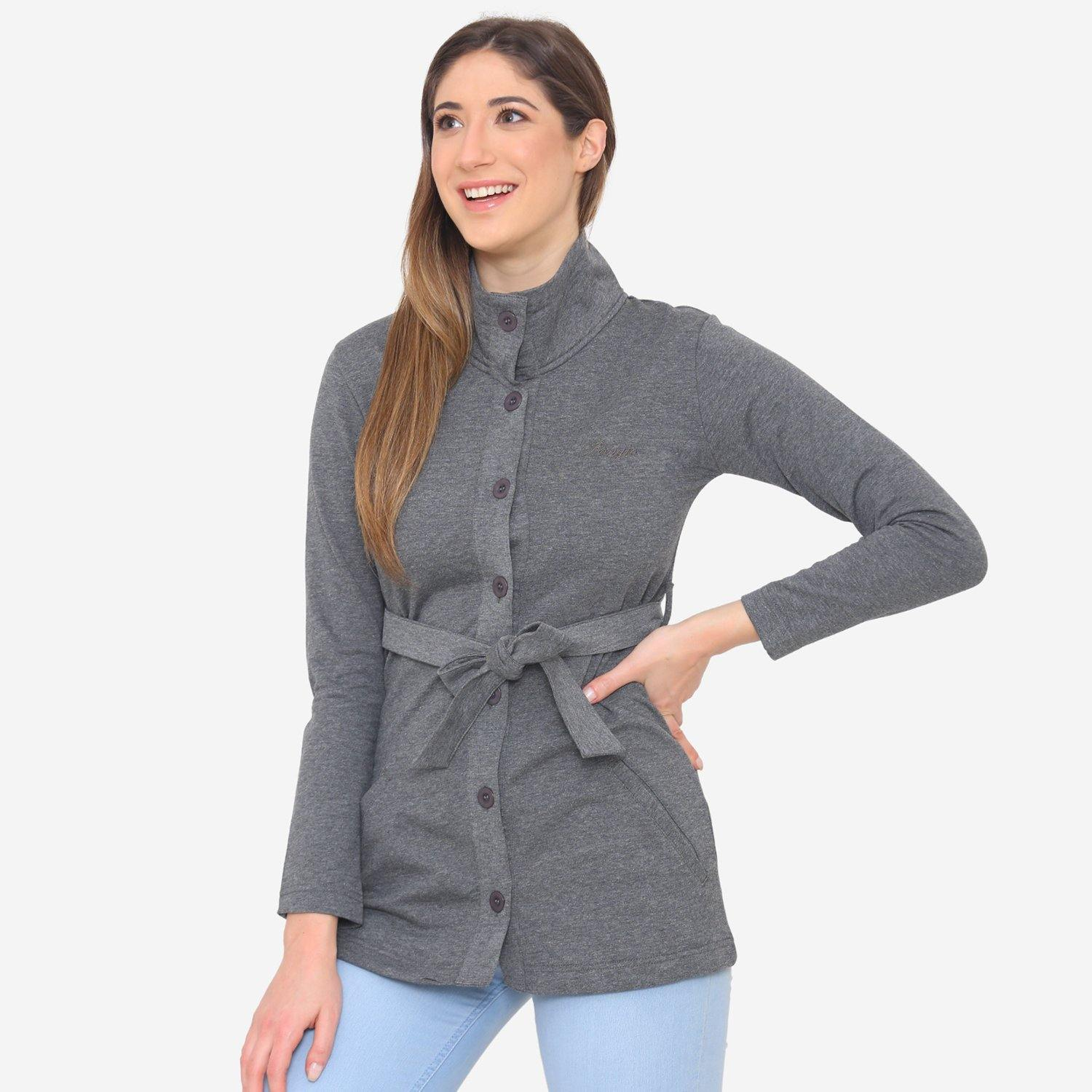 Women's Stylish & Comfy  Jacket - Anthra