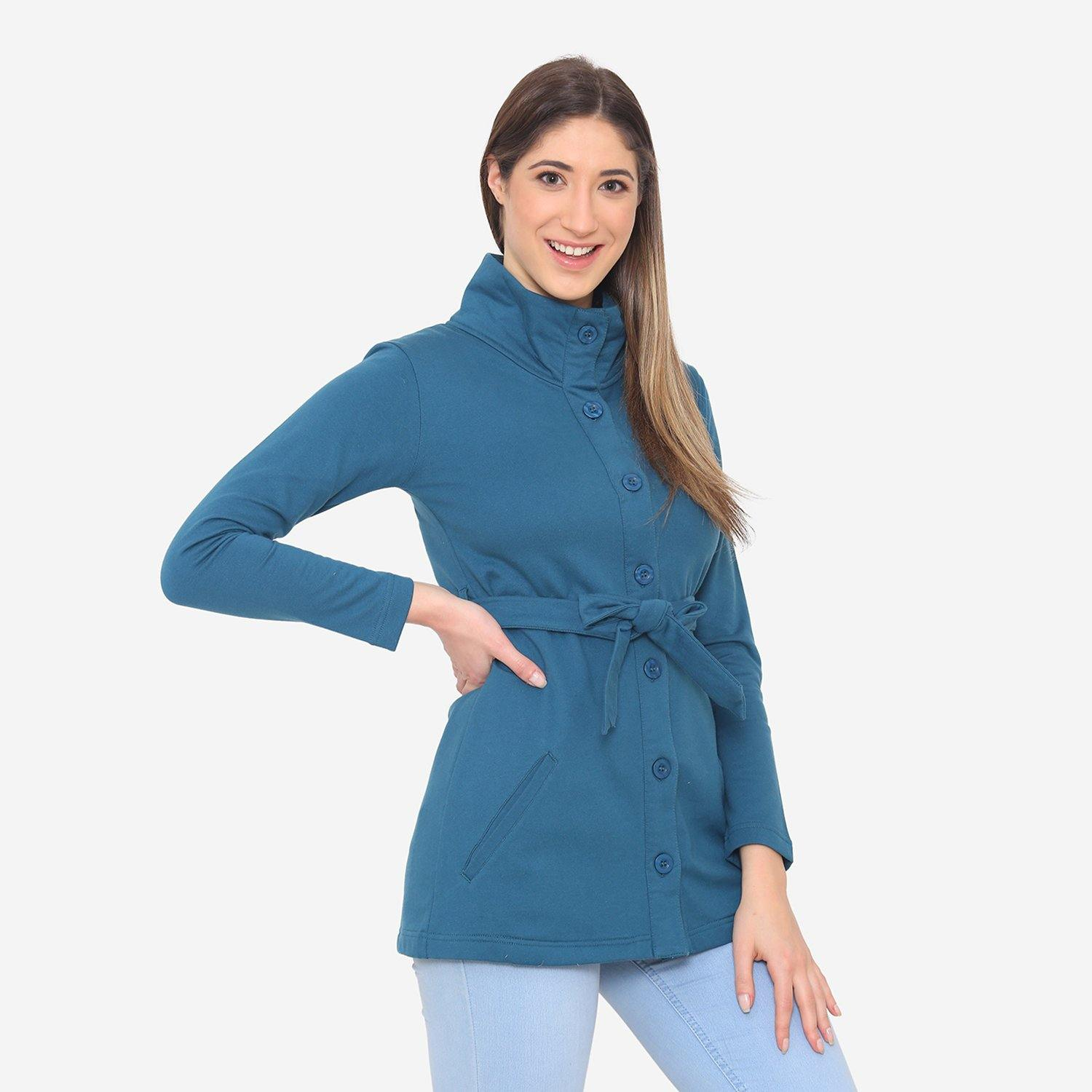Women's Stylish & Comfy Winter Jacket -Atlantic Deep