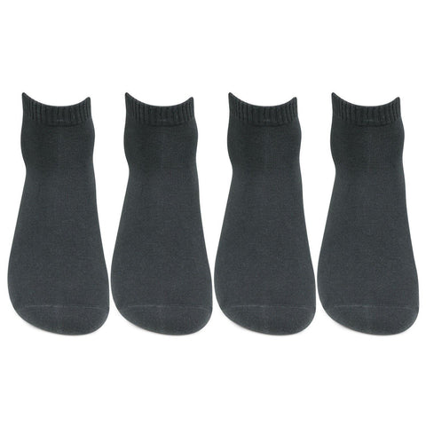 Men's Club Class Dark Grey Ankle Socks - Pack of 4