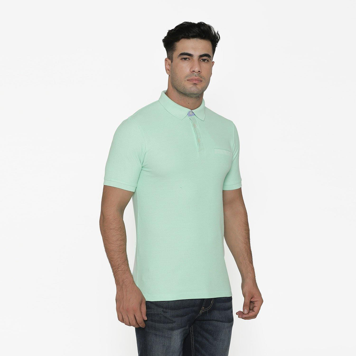 Men's Stylish Polo - Neck T - Shirt For Summer