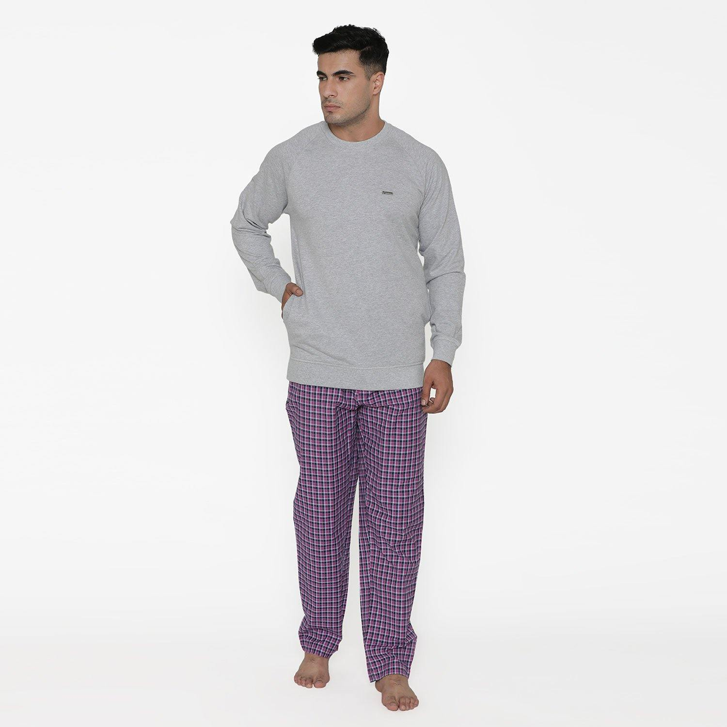 Men's Regular Fit Casual  Winter Lounge Wear - Pajama Set