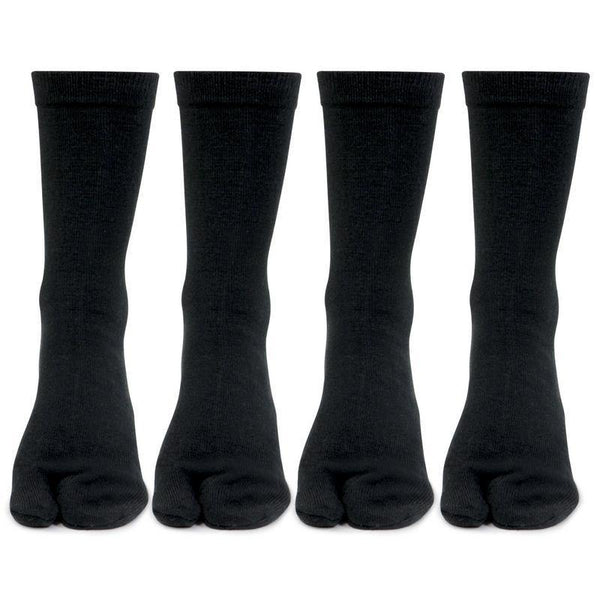 Women's Woolen Thumb Crew Socks (3 Colors)- Pack of 4