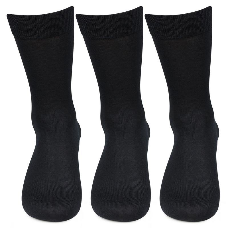 Men's Mercerised Cotton Crew Length Socks- Pack of 3