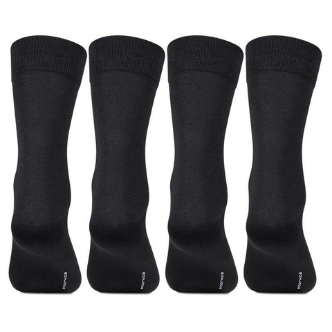 Men's Cotton Plain Socks- Pack of 4