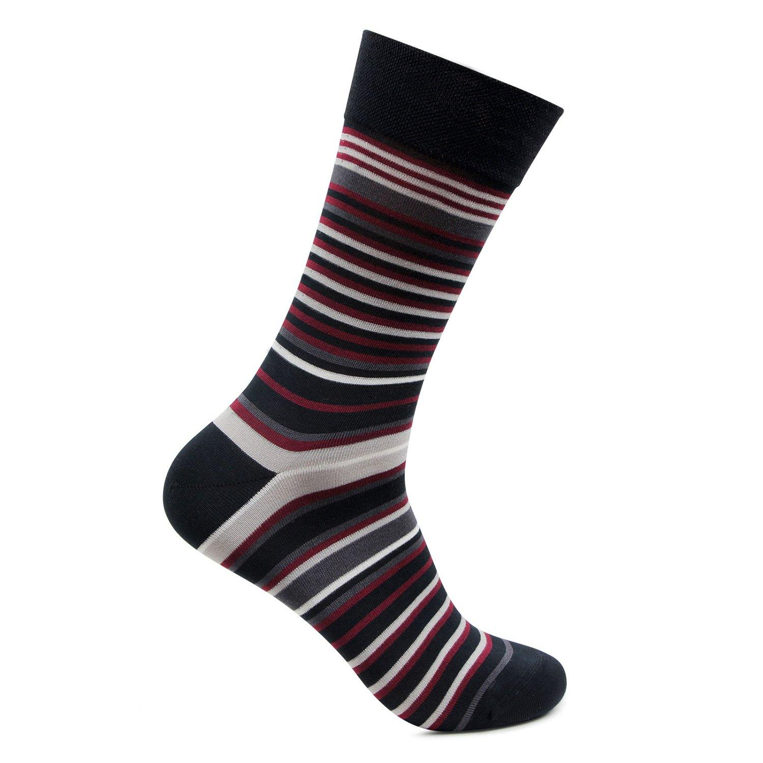 Men's Formal Signature Collection Striped Pattern Socks