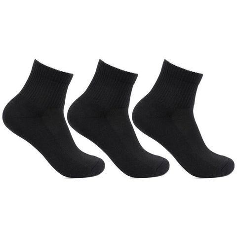 Men's Cushioned Black Joggers Ankle Sports Socks- Pack of 3