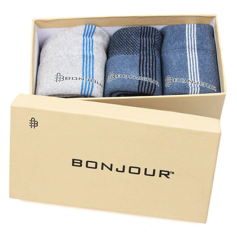 Men's Cushioned Sports Ankle Socks - Pack of 3