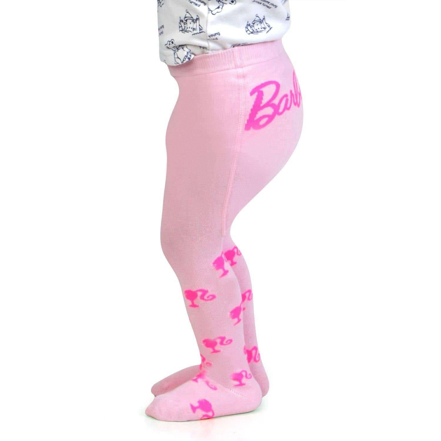 Barbie Cute Prints Knitted Tights for Baby Girls