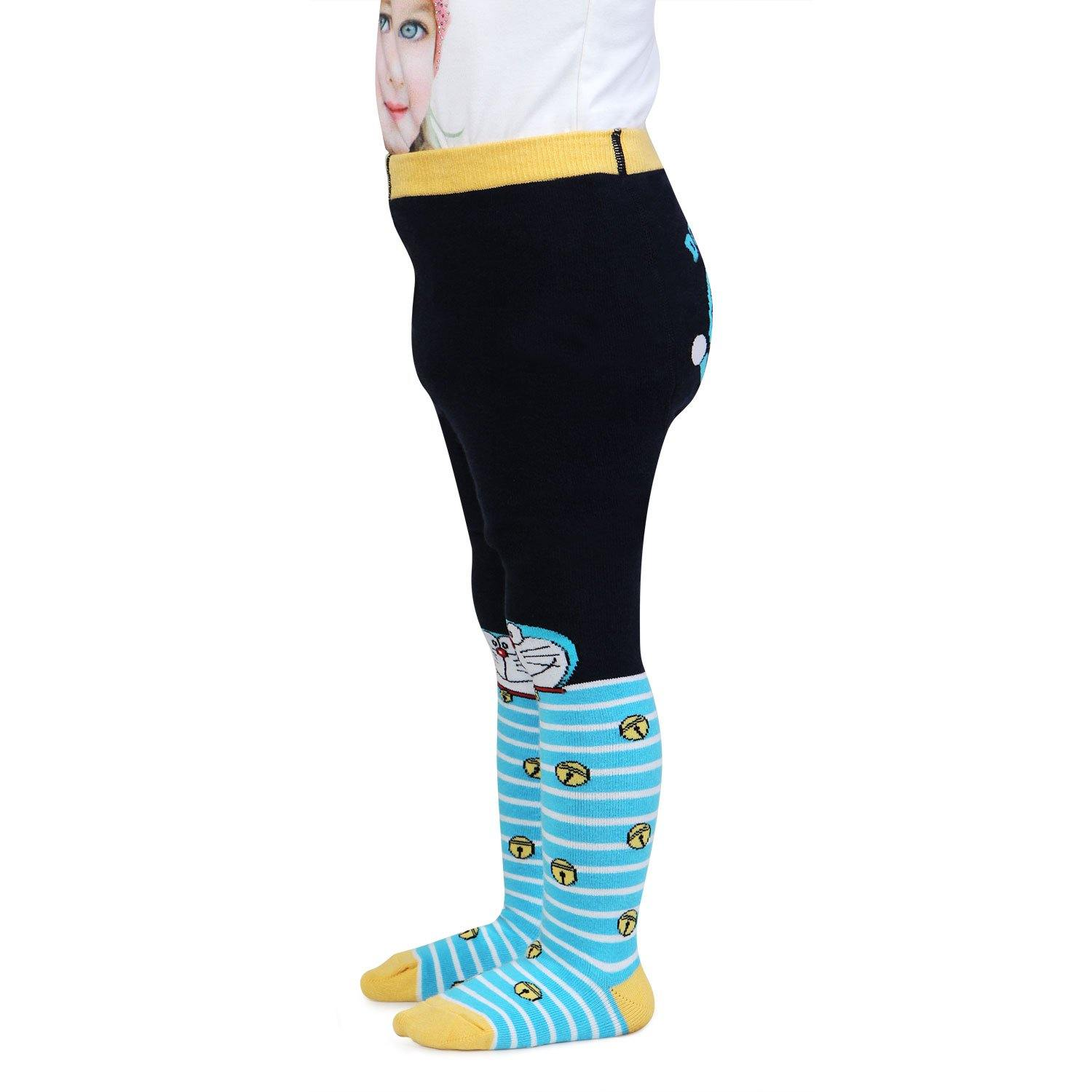 Doraemon Knitted Tights for Baby Boys - Navy