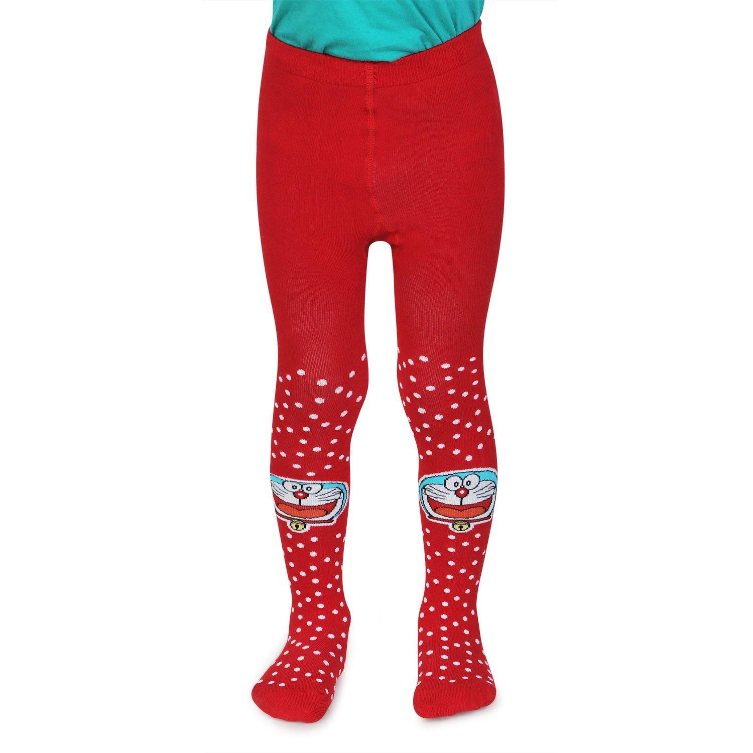 Doraemon Knitted Tights for Baby Boys - Red