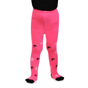 Barbie Cute Prints Knitted Tights For Baby Girls - Pink