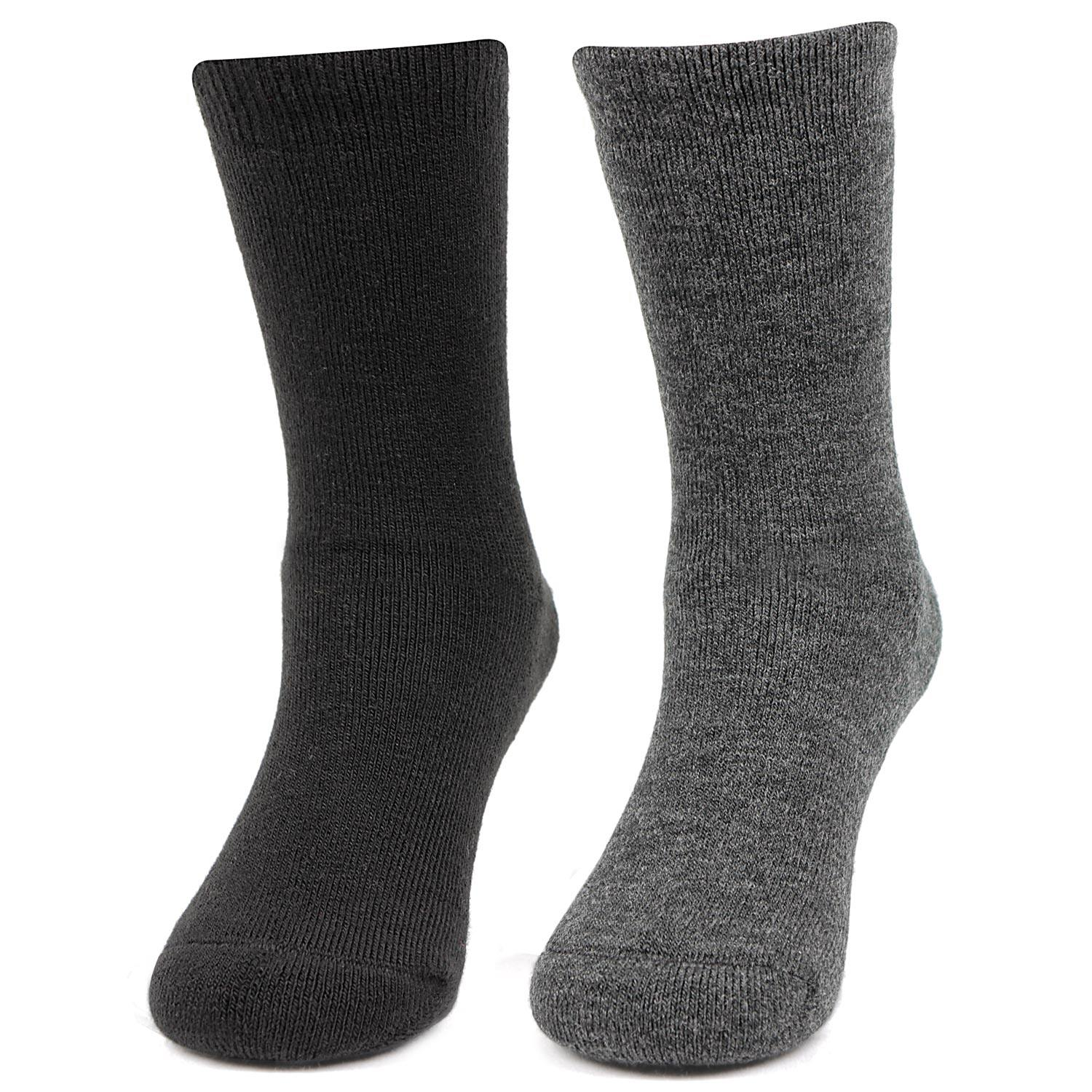 Kids Plain Multicoloured Woolen Crew Socks- Pack of 2