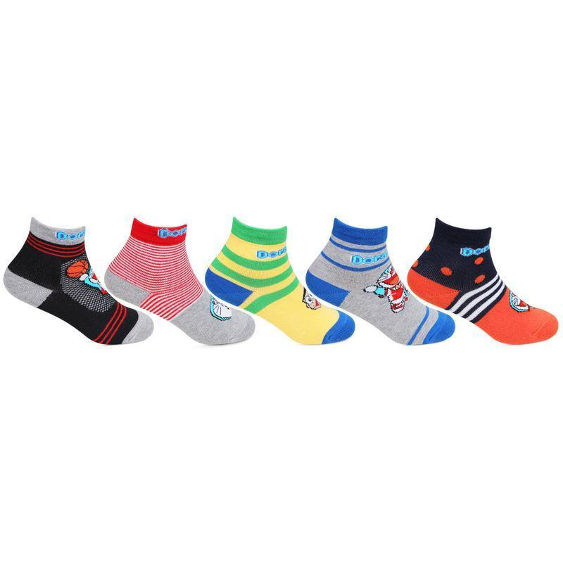 Doraemon Kids Ankle-length Socks - Pack of 5
