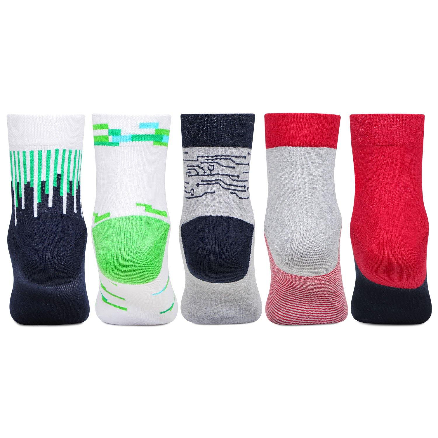 Ben 10 Ankle-Length Socks  Cotton For Boys- Pack Of 5
