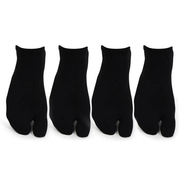 Women's Plain Cotton Secret Length Thumb Socks- Pack of 4