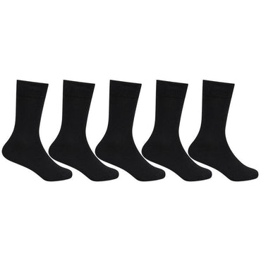 Black Cotton School Socks