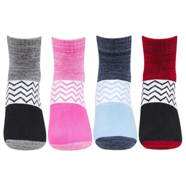 Women's Cotton Aerobica Multicolored Ankle Sports Socks- Pack of 4