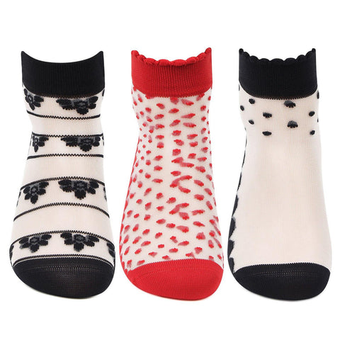 Women's Multi Design Fashion Socks - Pack of 3