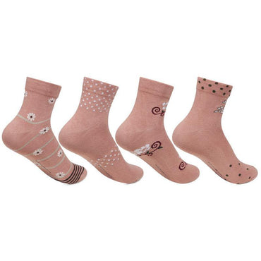 Women's Fancy Ankle Length Socks - Pack of 4