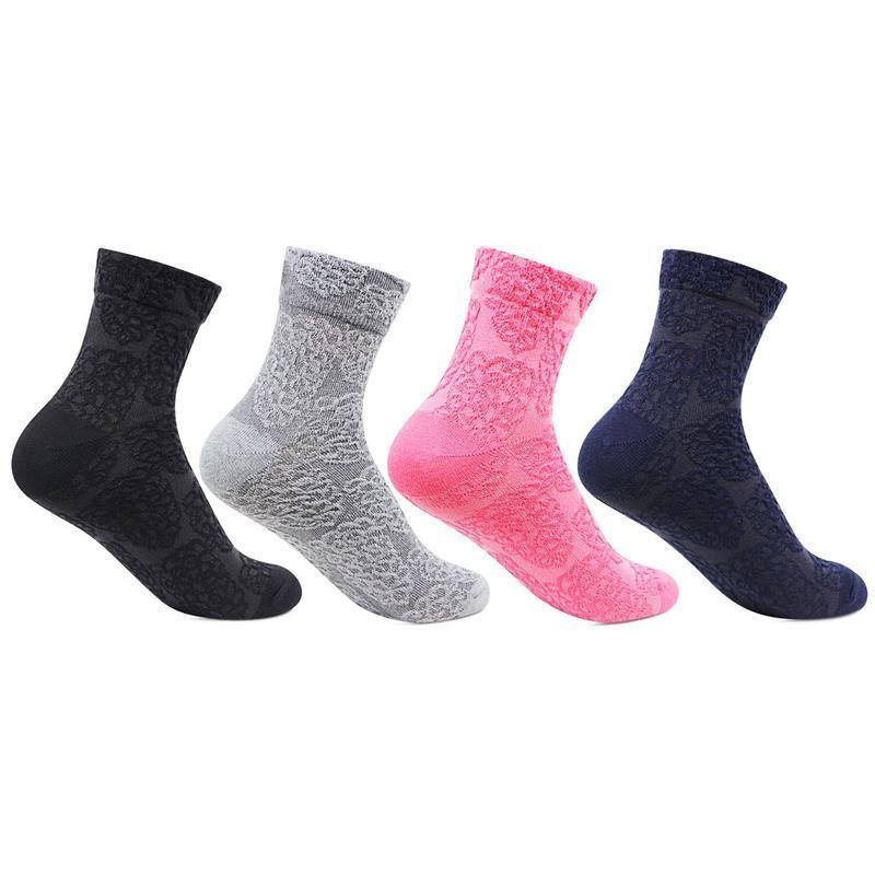 Women's Multicoloured Ankle Sock (Floral Print)- Pack of 4