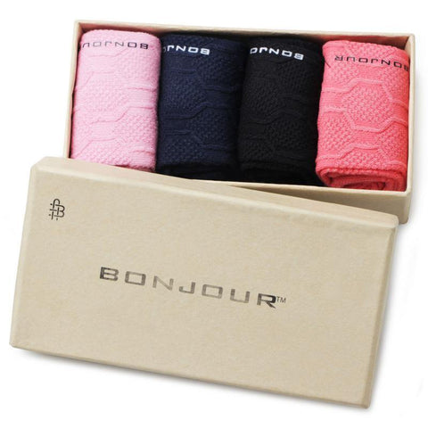 Women's Cotton Multicoloured Ankle Sock- Pack of 4