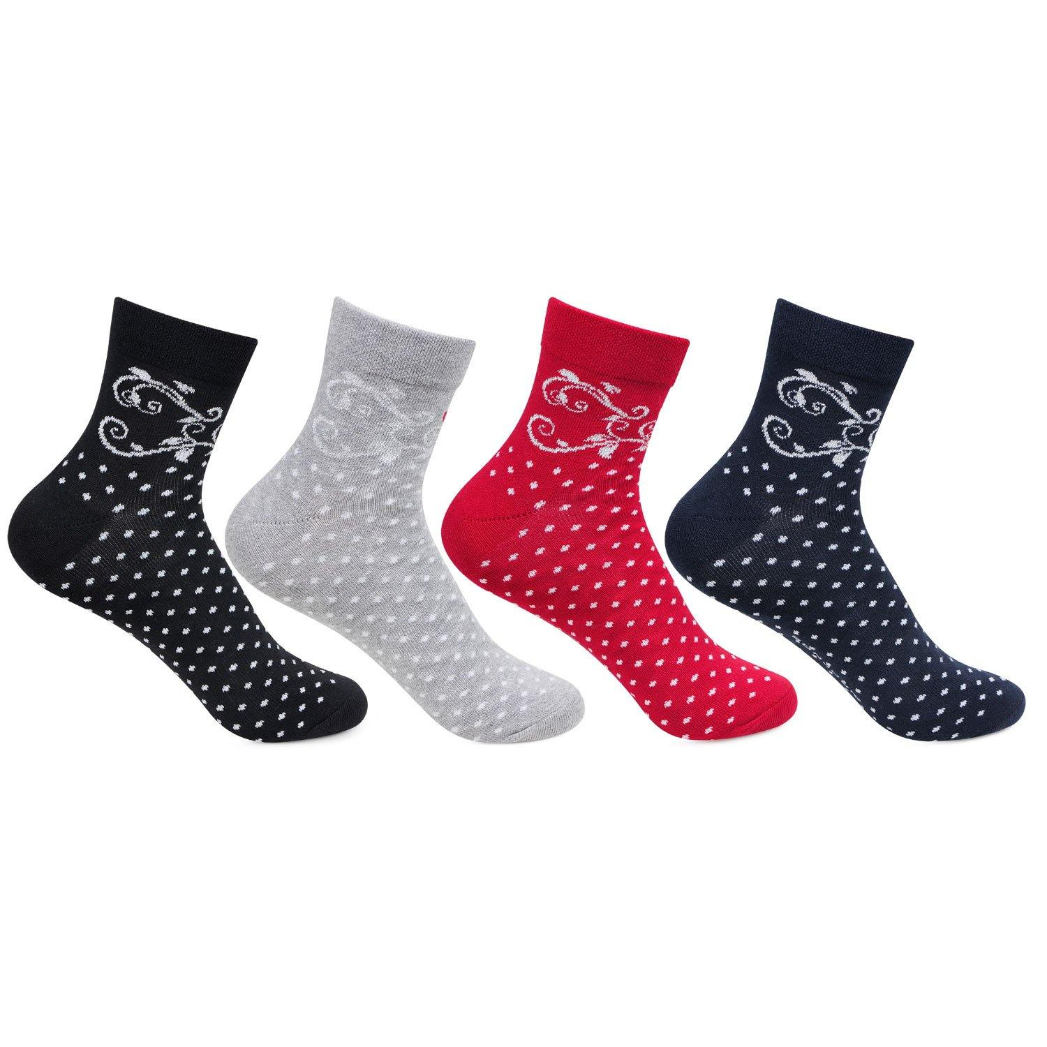 Women's Multicolored Ankle  Socks