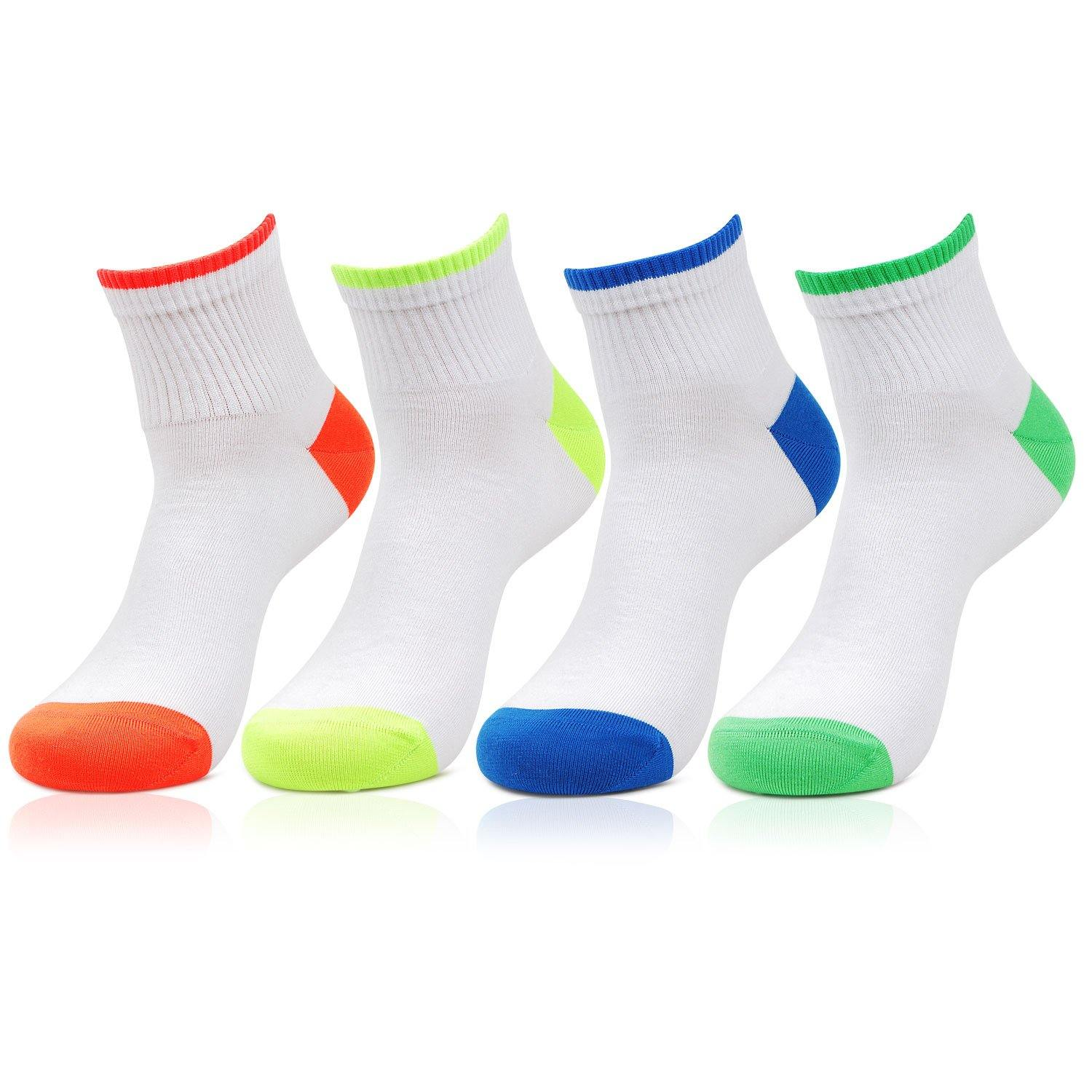 Men's Cotton White Ankle Socks- Pack of 4