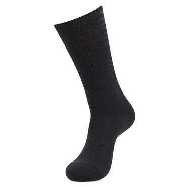 Men's Crew Length Diabetic Socks (Black)